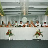 Lovely wedding party table at reception