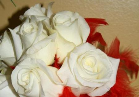 White Rose Bouqet