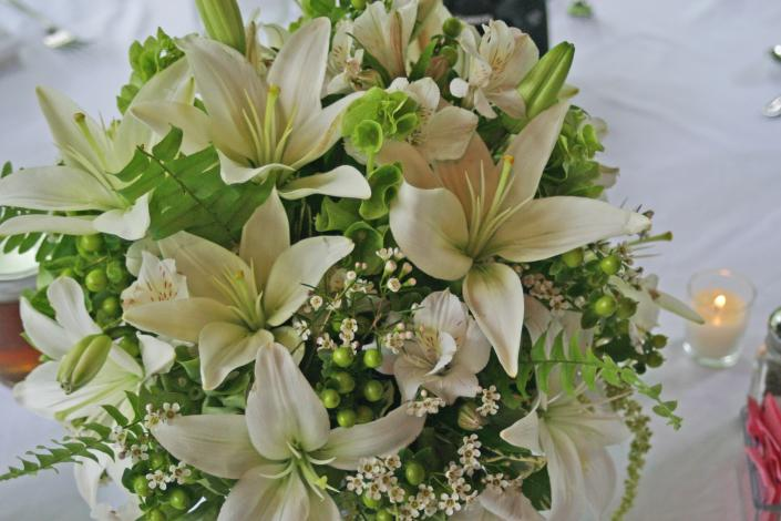 green and white bouquet wedding flowers gallery